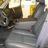 Upgraded leather seats on GMC Sierra