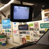 Reverse camera monitor on tranist connect