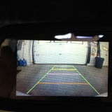 Reverse camera monitor view in rear view mirror