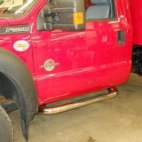 Chrome running boards added to F-550
