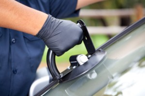 Windshield Replacement 2 Stock Photo